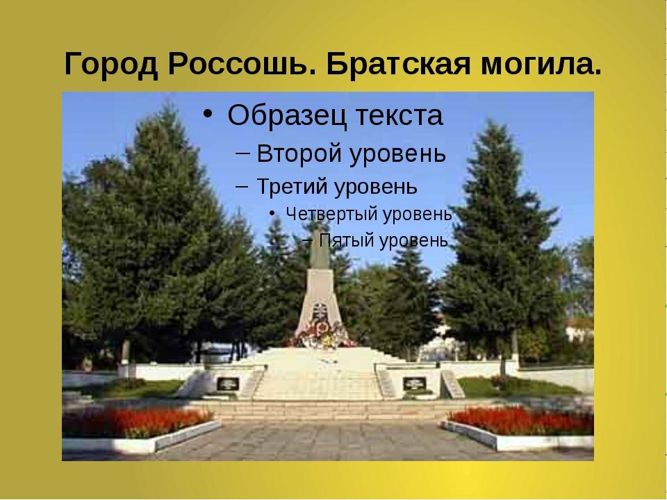 Город Россошь. Братская могила.
