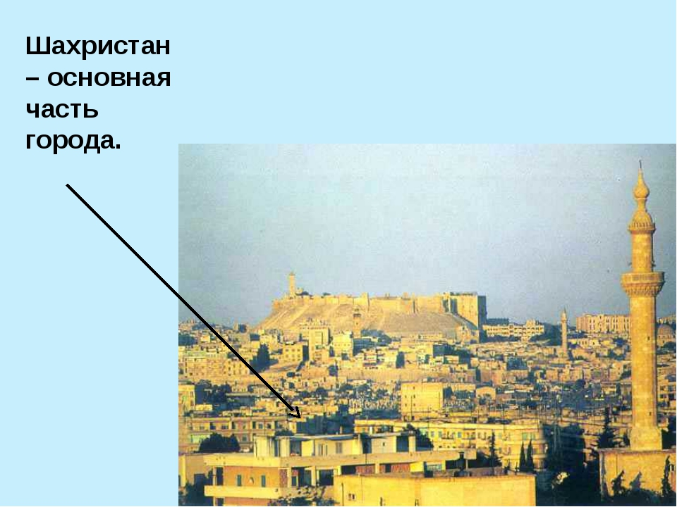 Шахристан – основная часть города.