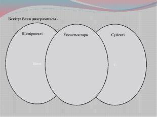 Бекіту: Венн диаграммасы . Шеше С Шеміршекті Сүйекті Ұқсастықтары