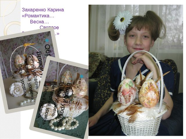 Захаренко Карина «Романтика… Весна… Светлое Воскресение…»