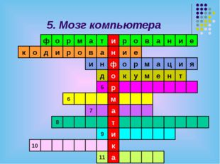 Слово, зашифрованное в ребусе, означает: 1) устройство управления компьютером