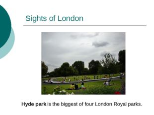 Sights of London Hyde park is the biggest of four London Royal parks.