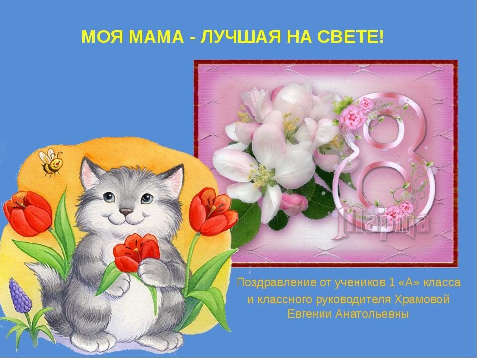 Мама лучшая на свете поздравленья принимай