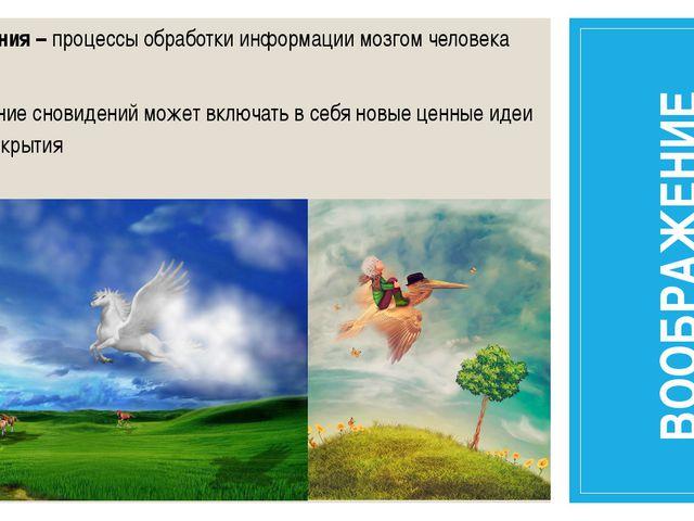 Сновидения – процессы обработки информации мозгом человека Содержание сновиде...