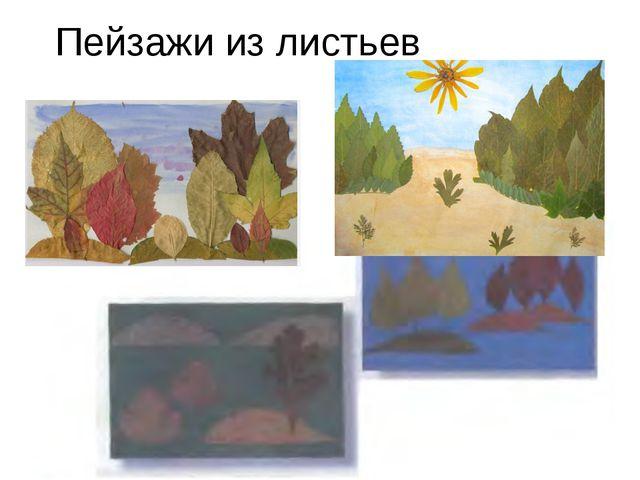 Пейзажи из листьев