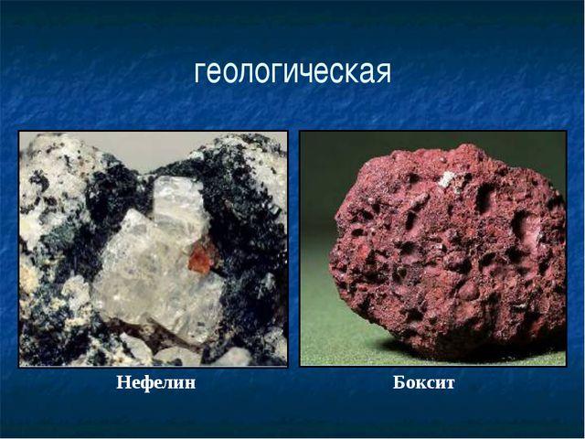 геологическая Нефелин Боксит