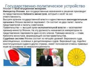 Япония— конституционная монархия. Император Японии все государственные назна