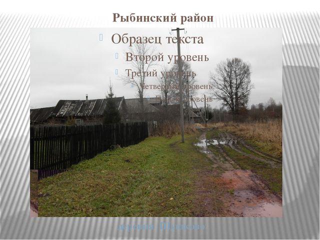 Рыбинский район деревня Шушково