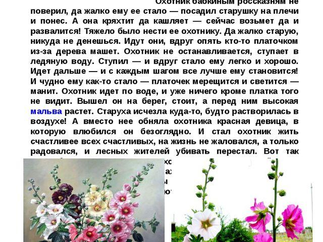 Мальва, шток-роза, «Лесная фея» Есть тут не далеко место непростое, волшебное...