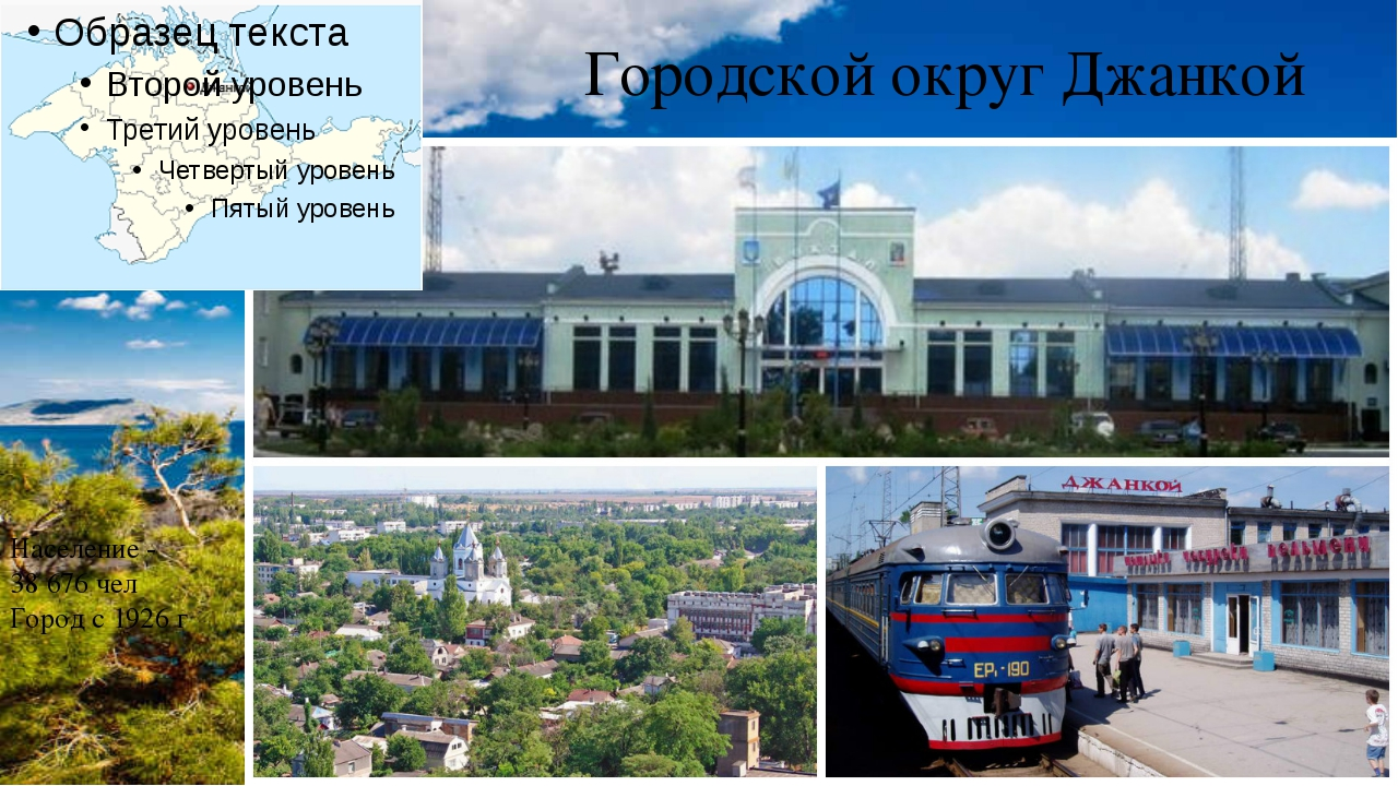 Городской округ Джанкой Население - 38676 чел Город с 1926 г