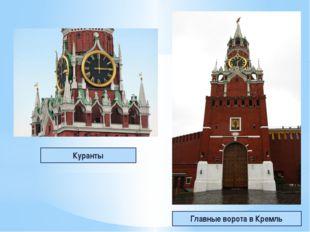 Куранты Главные ворота в Кремль