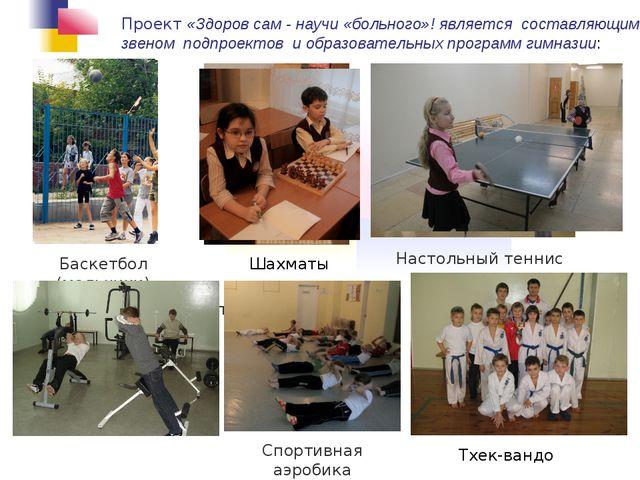Настольный теннис Баскетбол (мальчики) Футбол Тхек-вандо Спортивная аэробика...