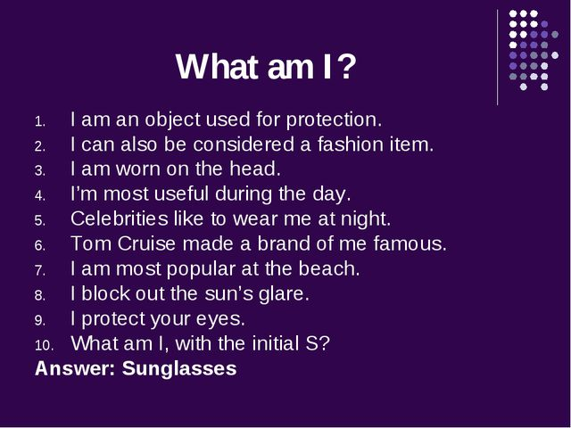 What am I? I am an object used for protection. I can also be considered a fas...
