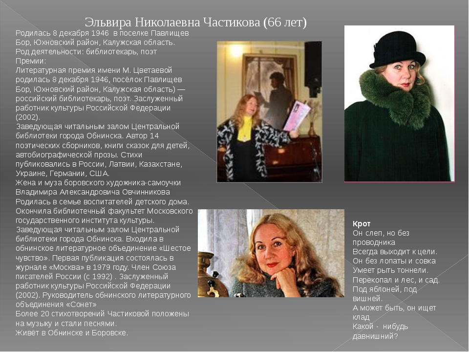 Эльвира Николаевна Частикова (66 лет) Родилась 8 декабря 1946 в поселке Павли...