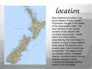 New Zealand is located in the south-western Pacific Ocean Polynesian triangle