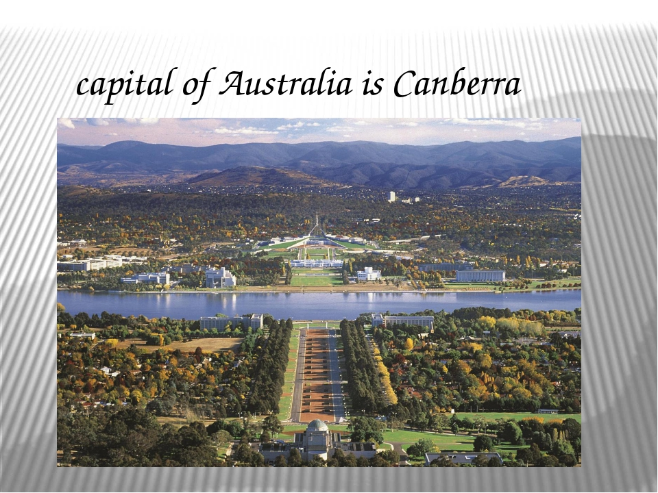 capital of Australia is Canberra