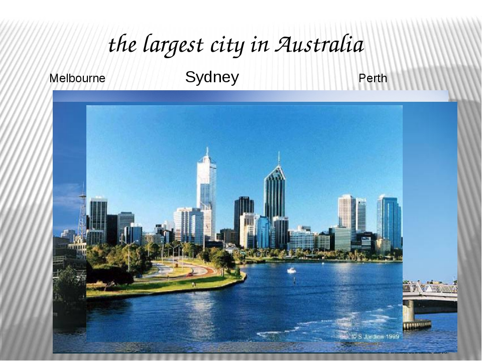 the largest city in Australia Sydney Melbourne Perth