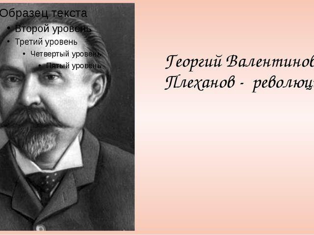 Георгий Валентинович Плеханов - революционер