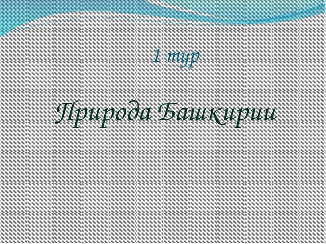 1 тур Природа Башкирии