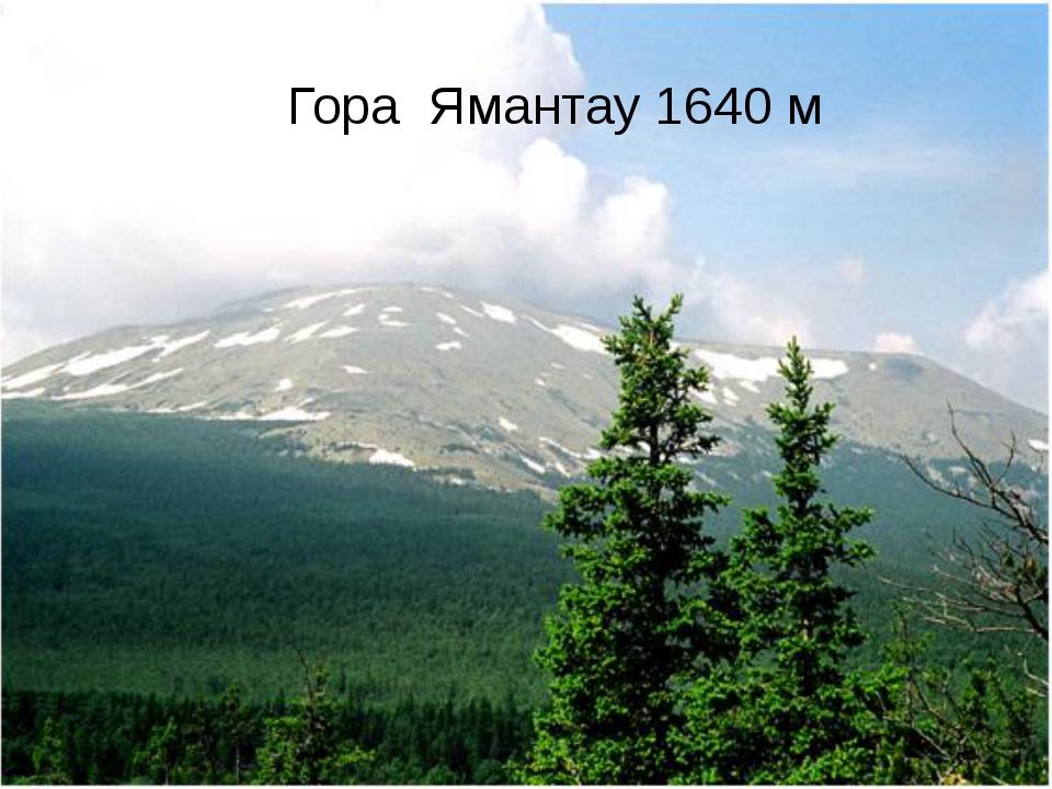 Вопрос № 6 Наивысшая точка Уральских гор на территории Башкортостана Гора Яма...