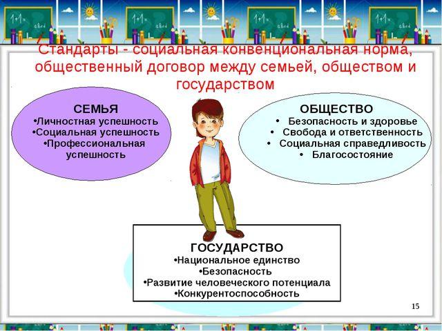 Стандарты - социальная конвенциональная норма, общественный договор между се...