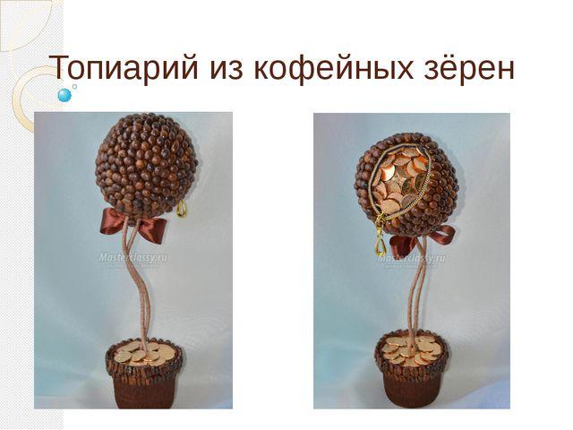 Топиарий из кофейных зёрен