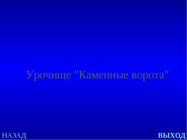 """НАЗАД выход Урочище """"Каменные ворота"""""""