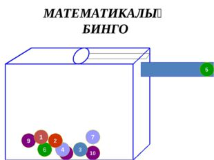 8 4 9 2 7 10 3 6 1 5 МАТЕМАТИКАЛЫҚ БИНГО