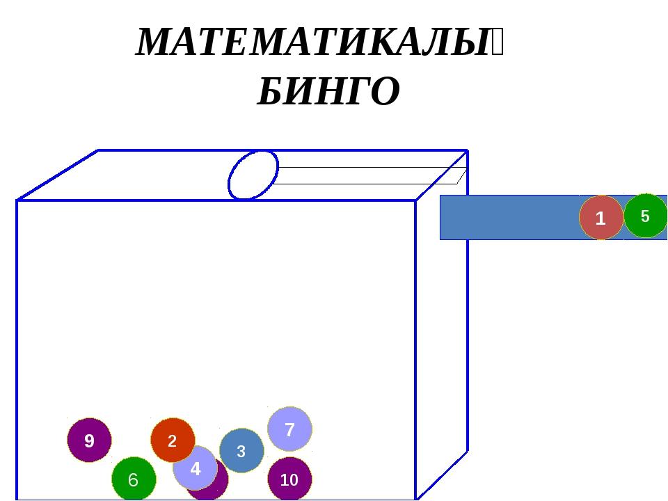 8 4 9 2 7 10 3 6 5 1 МАТЕМАТИКАЛЫҚ БИНГО
