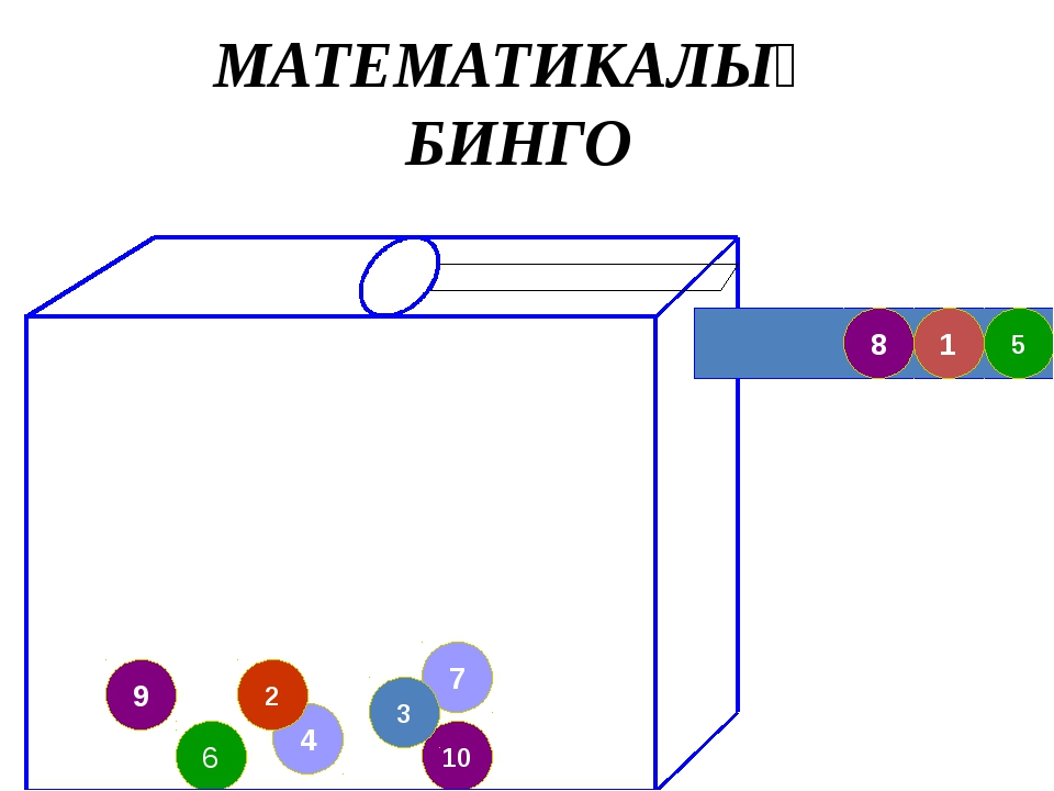 4 9 7 10 3 6 5 1 8 2 МАТЕМАТИКАЛЫҚ БИНГО