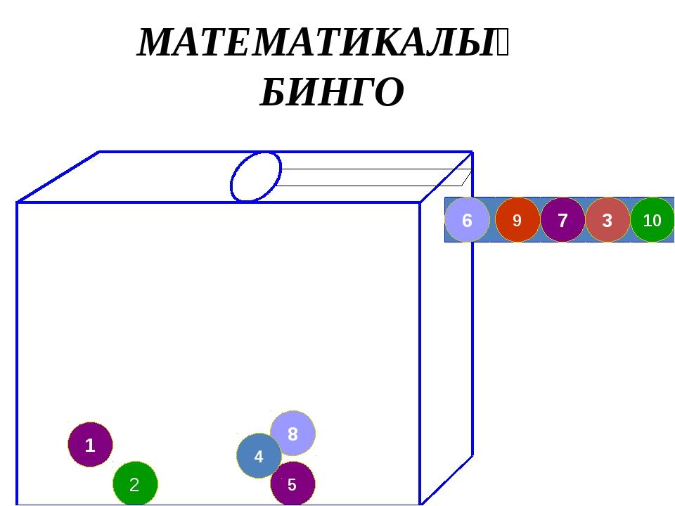 1 8 5 4 2 10 3 7 9 6 МАТЕМАТИКАЛЫҚ БИНГО