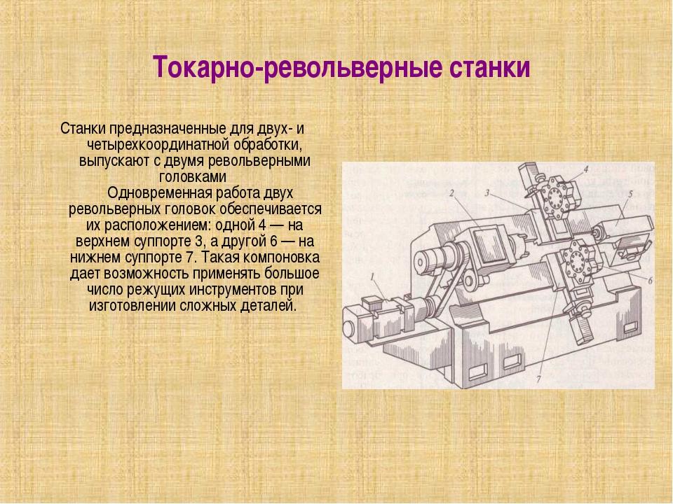 Токарно-револьверные станки Станки предназначенные для двух- и четырехкоорд...