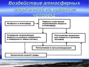 Воздействие атмосферных загрязнений на организм человека