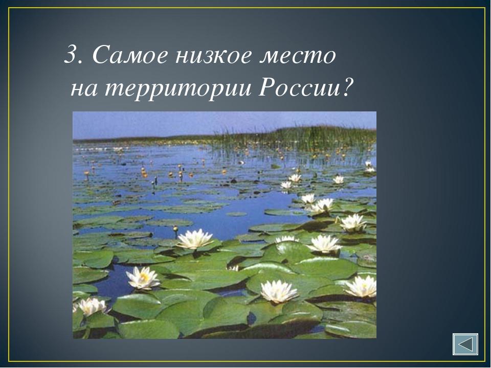 3. Самое низкое место на территории России?