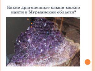 Какие драгоценные камни можно найти в Мурманской области?