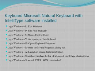 Keyboard Microsoft Natural Keyboard with IntelliType software installed Logo