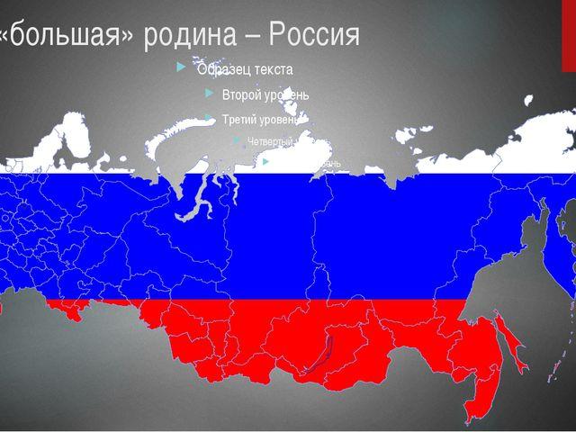 Наша «большая» родина – Россия