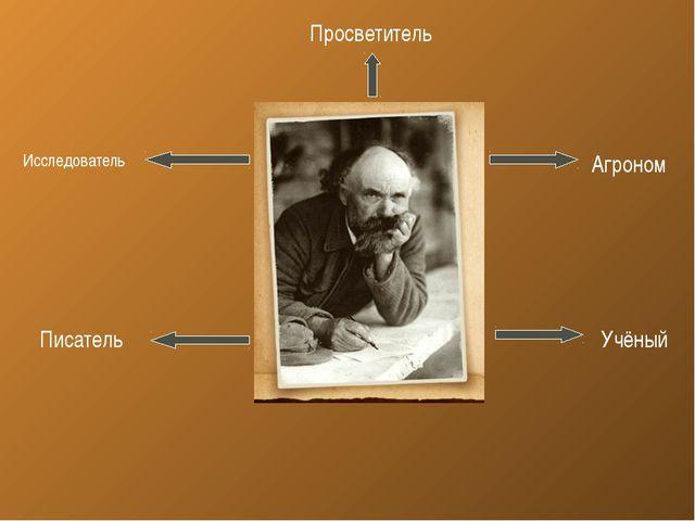 Агроном Учёный Исследователь Писатель Просветитель