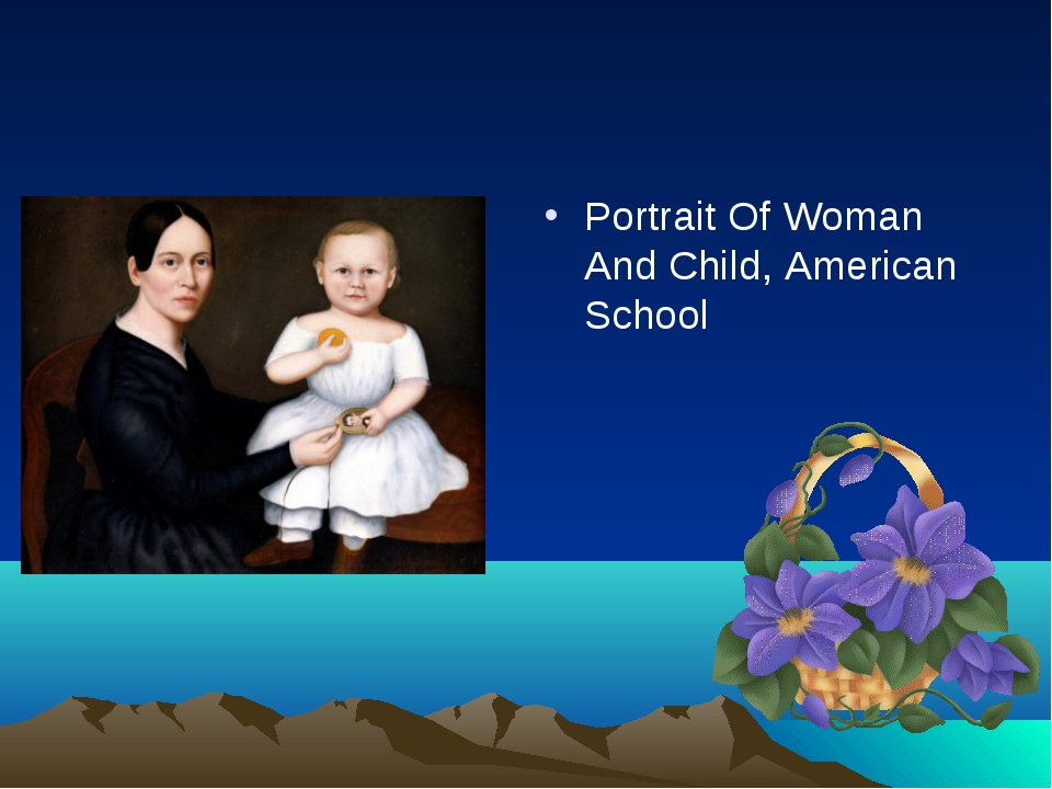 Portrait Of Woman And Child, American School