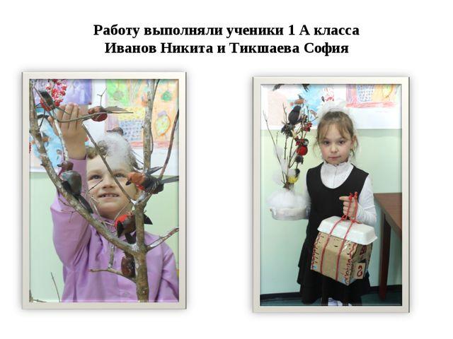 Работу выполняли ученики 1 А класса Иванов Никита и Тикшаева София