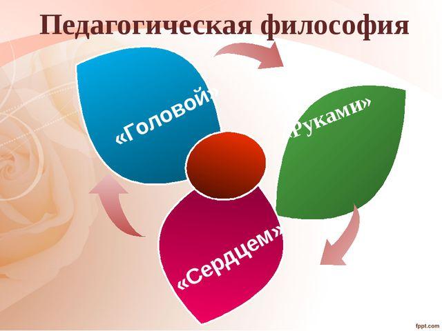 Педагогическая философия «Руками» «Сердцем» «Головой»