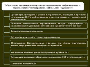 Мониторинг реализации проекта по созданию единого информационно – образовате
