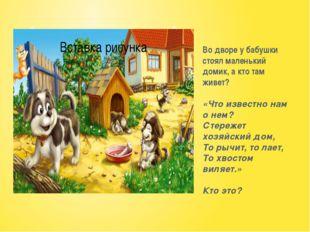 Во дворе у бабушки стоял маленький домик, а кто там живет? «Что известно нам