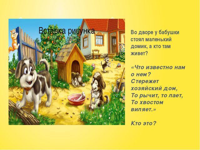 Во дворе у бабушки стоял маленький домик, а кто там живет? «Что известно нам...