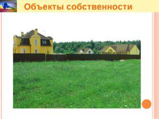 Объекты собственности