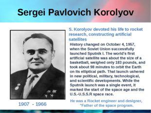Sergei Pavlovich Korolyov