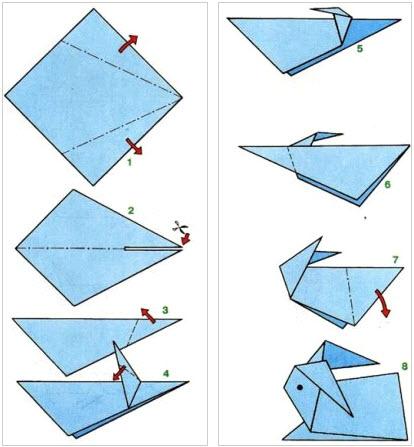 Оригами из бумаги легкие схемы для начинающих