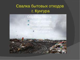 Свалка бытовых отходов г. Кунгура