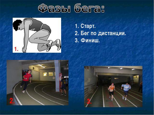 Старт. Бег по дистанции. Финиш.
