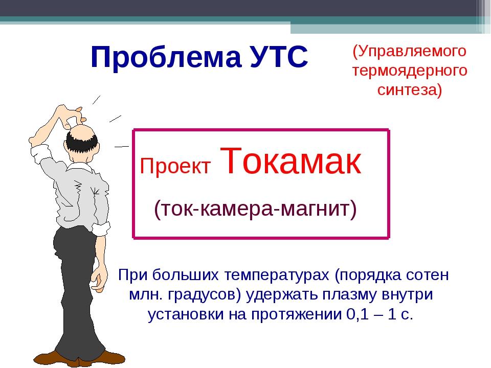 (Управляемого термоядерного синтеза) Проект Токамак (ток-камера-магнит) При б...